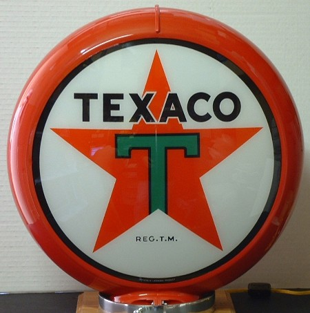 globe texaco globes de pompes essence usa fifties. Black Bedroom Furniture Sets. Home Design Ideas