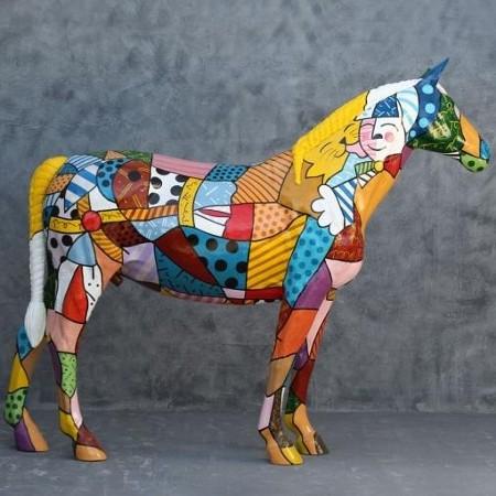 cheval pop art statues pop art et d co pop. Black Bedroom Furniture Sets. Home Design Ideas