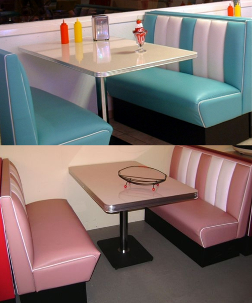 banquette diner 120 mobilier usa fifties. Black Bedroom Furniture Sets. Home Design Ideas
