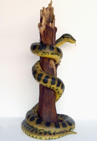 Serpent dans arbre statues jungle savane for Bordure autour d un arbre
