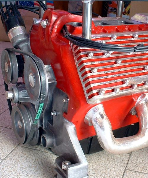 Table Basse Moteur V8 Decors Usa Fifties