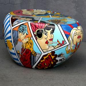 Table Basse Pop Art : Mobilier POP ART ET DÉCO POP