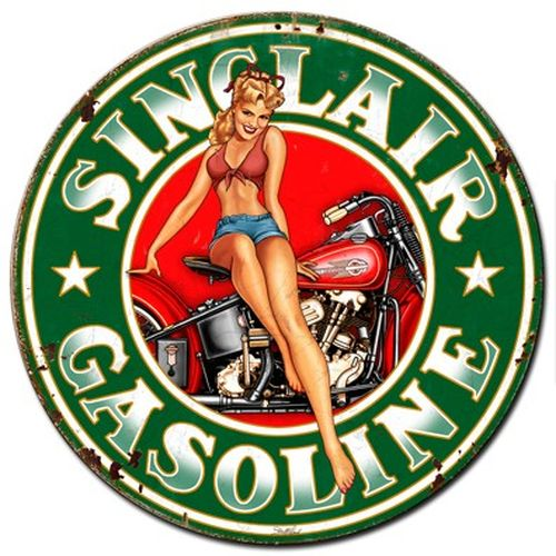 sinclair gas pin up garage usa fifties. Black Bedroom Furniture Sets. Home Design Ideas